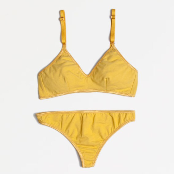 Goldenrod Organic Cotton Lingerie Set